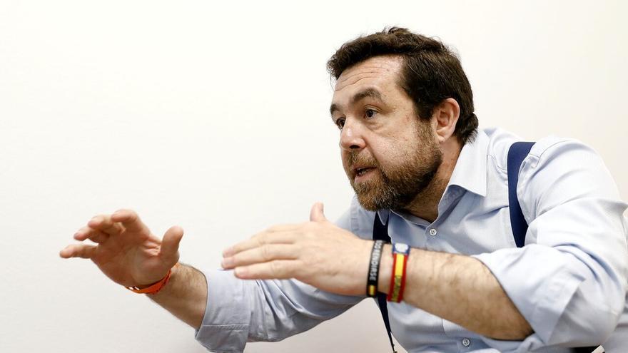 Miguel Gutiérrez, secretario general del grupo parlamentario Ciudadanos, durante la entrevista