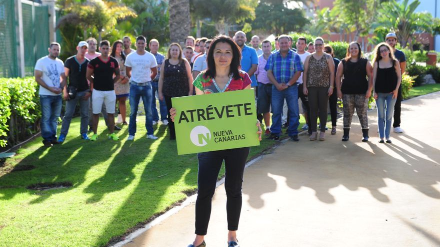 Isabel Santiago, candidata de Nueva Canarias en Mogán.