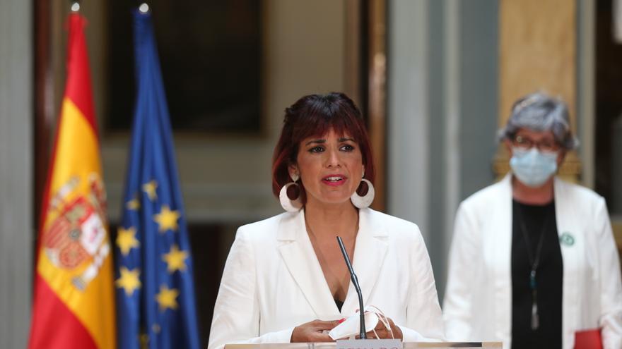Archivo - La líder de Anticapitalistas en Andalucía y diputada autonómica, Teresa Rodríguez interviene tras presentar una propuesta desde Andalucía en el Senado, a 24 de mayo de 2021, en Madrid (España). (Foto de archivo).