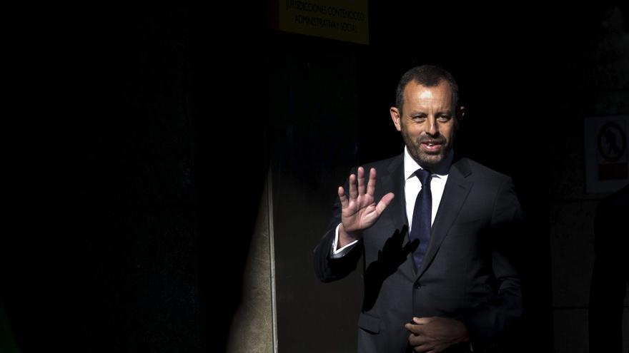 Sandro Rosell, en la Audiencia Nacional, antes de declarar sobre el caso Neymar