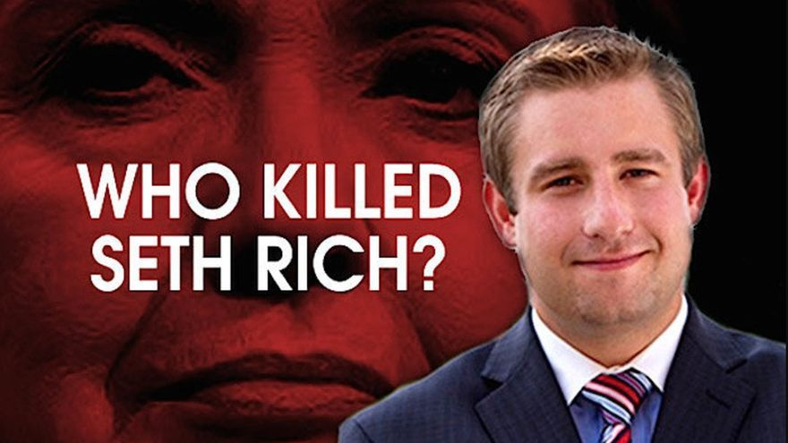 """""""¿Quién mató a Seth Rich?"""", esta es una de las decenas de imágenes difundidas por los medios ultra conservadores para ilustrar el caso"""