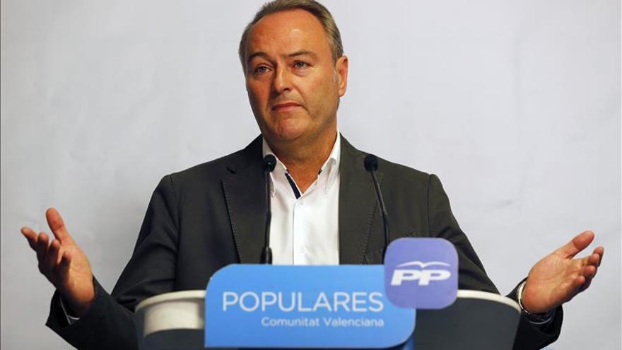 Fabra no se presentará a la reelección como presidente del PP valenciano