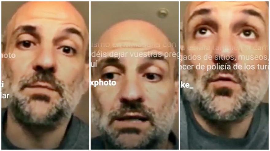 Pedro Bravo, durante la entrevista por instagram en el canal de @somosmalasana