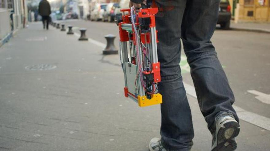 Prototipo de impresora 3D Foldarap, proyecto impulsado en Goteo.org por Emmanual Gilloz.