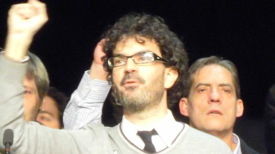 Eddy Sánchez, tras ser proclamado coordinador de IU Madrid.