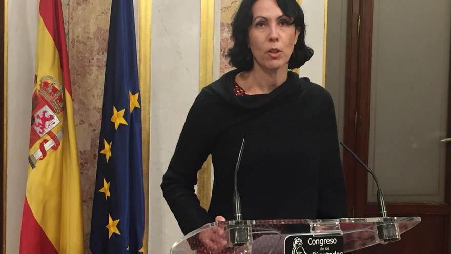 Eva García Sempere en el Congreso de los Diputados este miércoles.