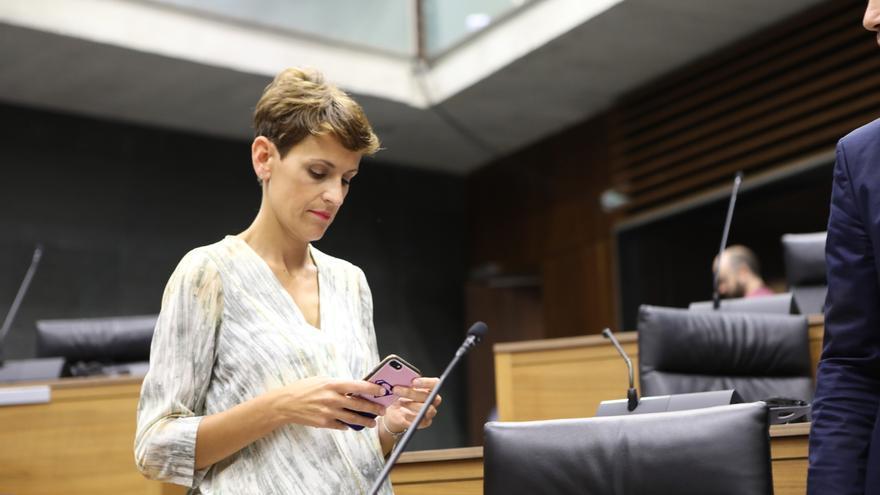 María Chivite acude este jueves a la investidura con los apoyos necesarios para ser presidenta en segunda votación