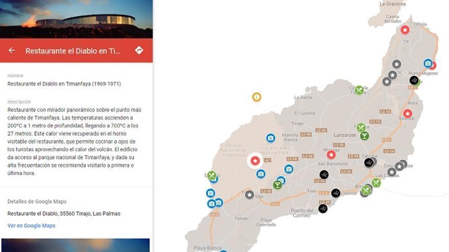 El arquitecto Alejandro Scarpa crea un mapa web interactivo para difundir la obra de Manrique.