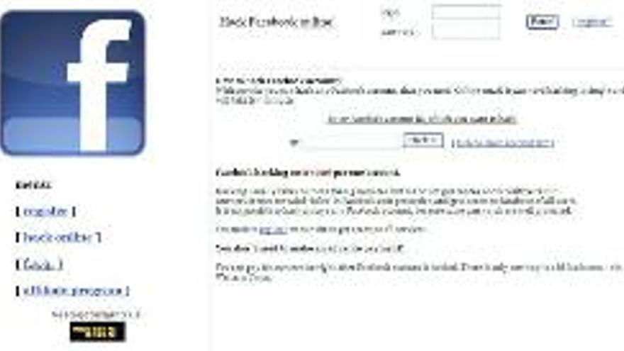 Detectado un servicio de 'hackeo' en Facebook