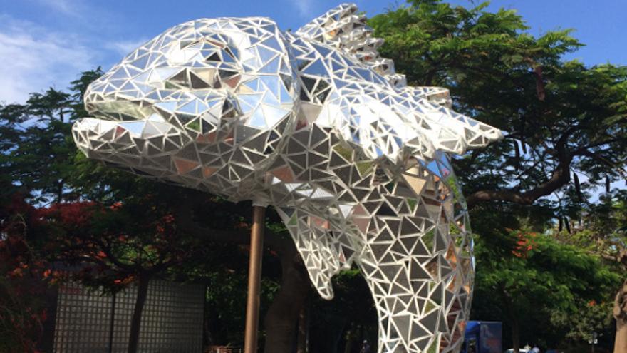 Escultura que obtuvo el primer premio en el certamen