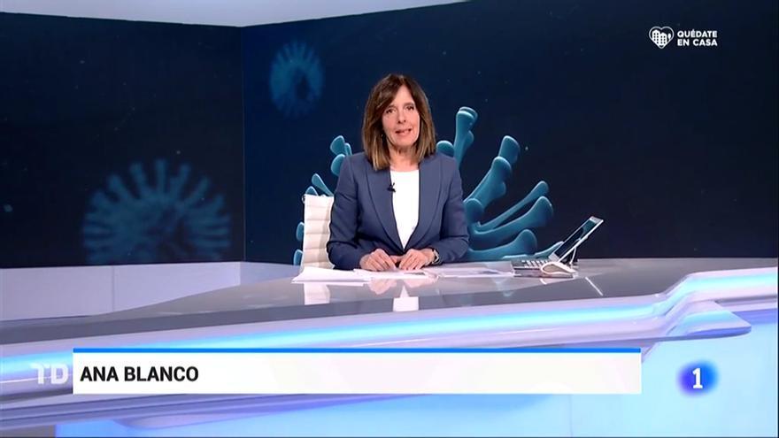 Un Telediario de La 1 de TVE, con Ana Blanco