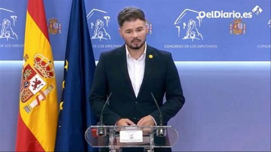 VIDEO |  Rufián agrees with Sánchez to convene a new meeting of the dialogue table