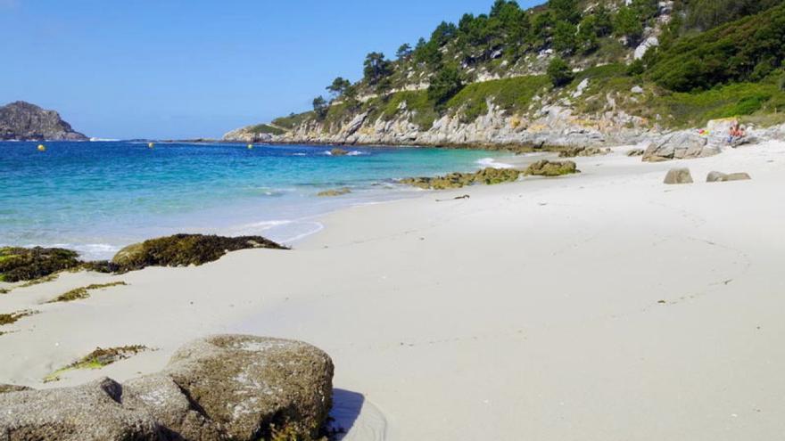 Playa en las islas Cíes, en el Parque das Illas Atlánticas