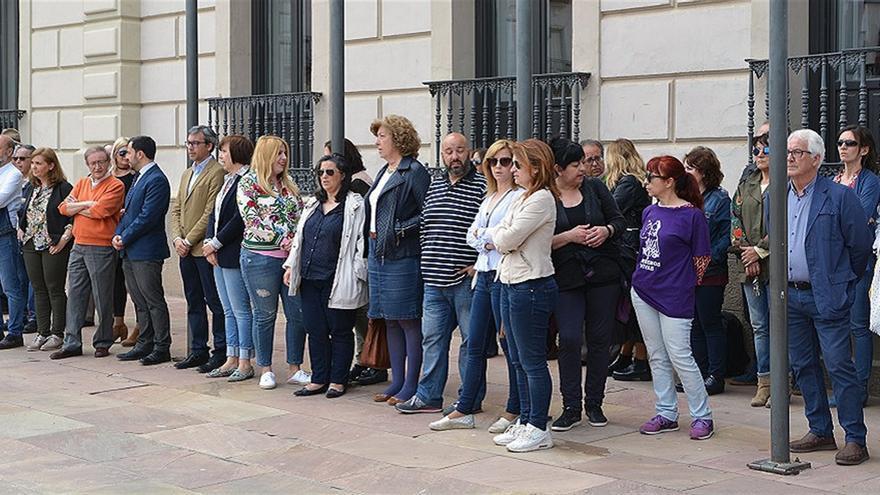 Concentración en Alcázar de San Juan repulsa violencia machista