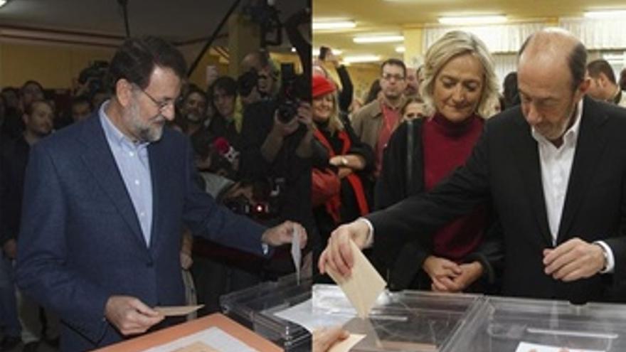 Montaje De Rajoy Y Rubalcaba Vontando El 20-N