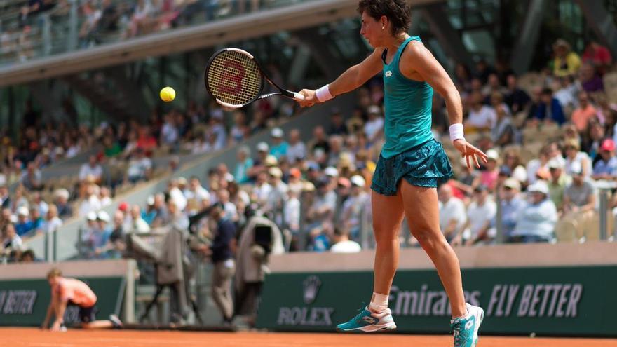 Carla Suárez se despide de la arcilla de París, su torneo favorito