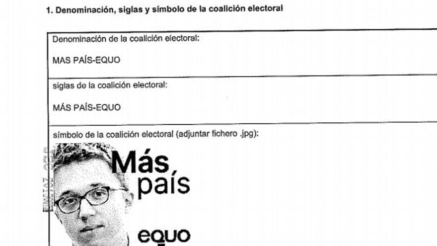 Un primer plano de la cara de Errejón será el logo de la coalición de Más País y Equo para las papeletas