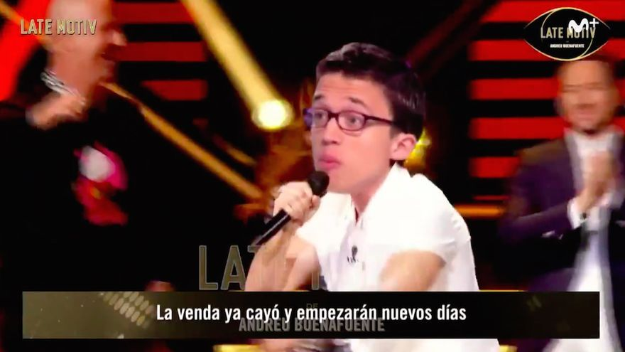 """Late motiv"" fusiona a Miki con Errejón: ""¡La venda ya cayóóó!"" (Vídeo)"