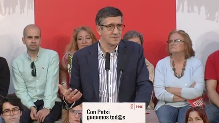 Patxi López en su acto de Madrid este viernes.