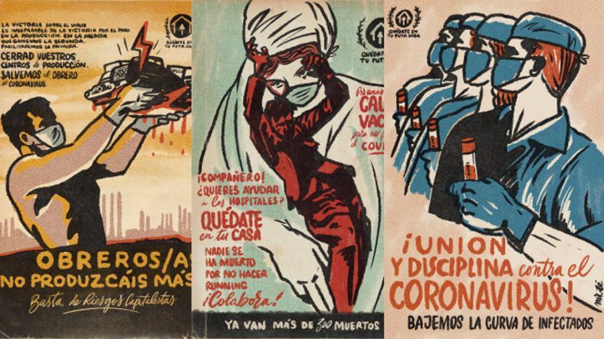 Carteles del diseñador Mr. Zé en tiempos de coronavirus