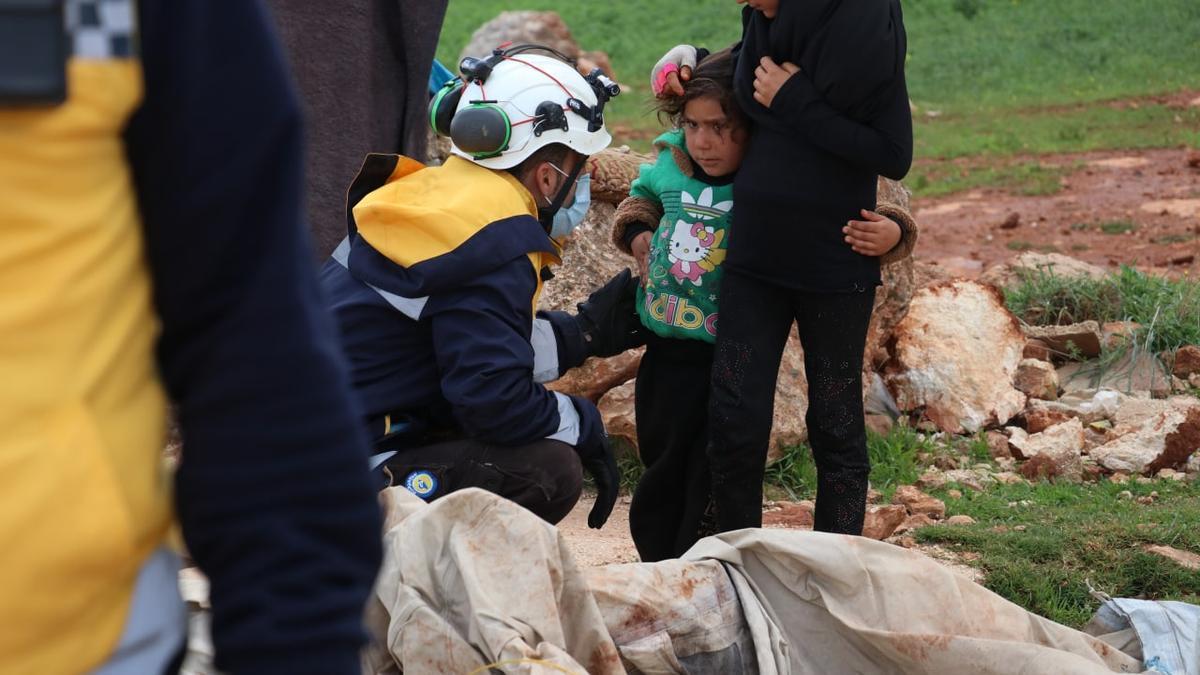 Imagen de Los Cascos Blancos de Siria publicada en su cuenta de Twitter