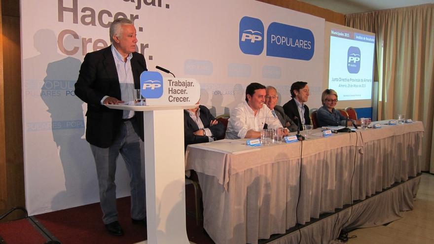 """Javier Arenas: """"Con Rajoy y con Cospedal, más unidos que nunca, volveremos a ganar las elecciones generales"""""""