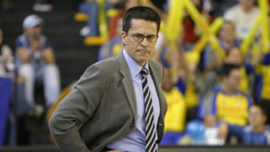 Pedro Martínez, entrenador del Gran Canaria 2014. (QUIQUE CURBELO)