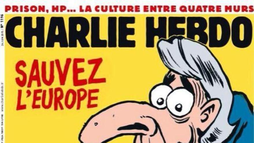 Portada de Charlie Hebdo sobre la crisis griega.