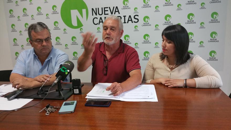 Miguel Ángel Pulido (i), Argelio Hernández e Izaila Hernández, este miércoles. Foto: LUZ RODRÍGUEZ