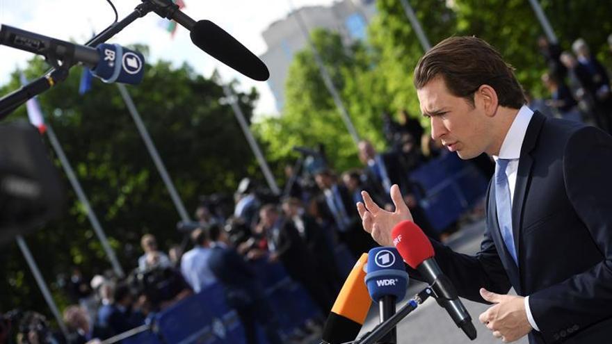 El canciller austríaco, Sebastian Kurz.