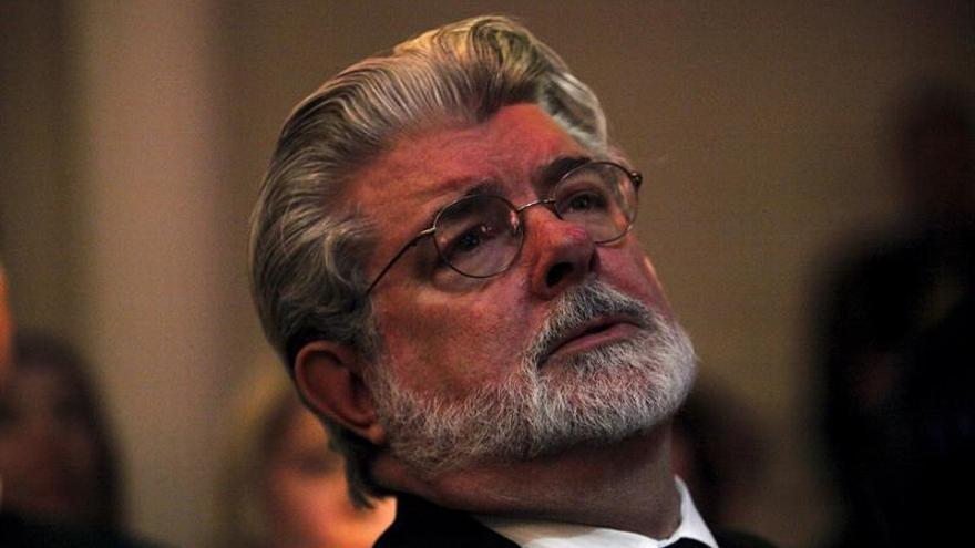 """George Lucas y Harrison Ford brindan por los 40 años de """"Star Wars"""""""