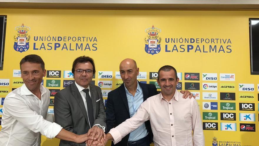 Toni Cruz, Pako Ayestarán, David Caneda y José Viela.