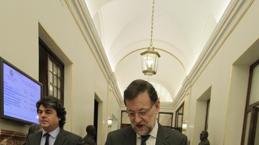 """Rajoy califica de """"mazazo"""" la muerte de Botín, """"un gran embajador de la marca España"""""""