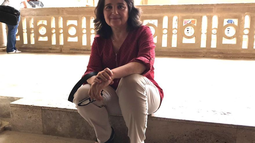 Purificación Gómez, en la sede la UNIA en Baeza, durante la entrevista.