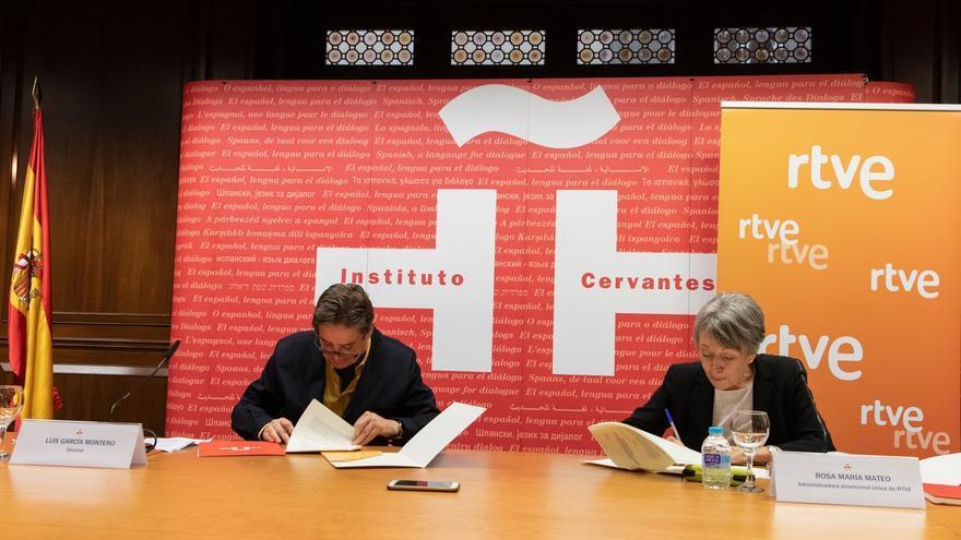 El Instituto Cervantes y RTVE se alían para promover y difundir el español