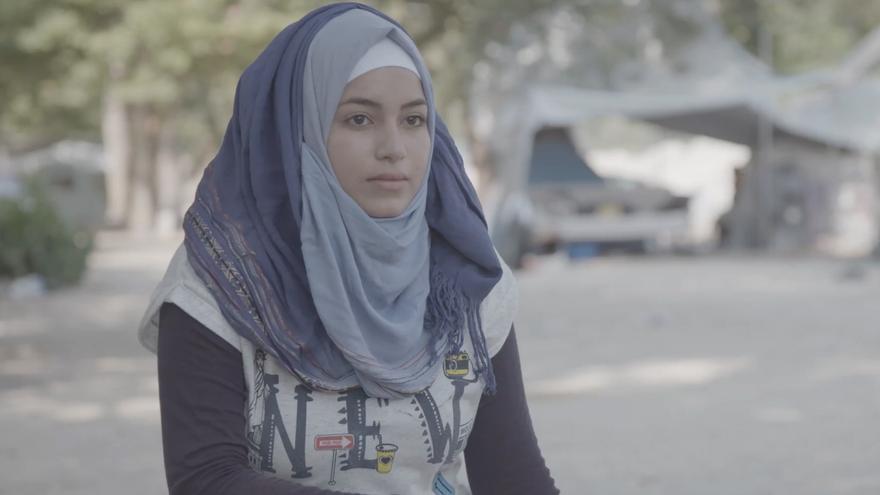 Hala, protagonista de 'La niña bonita'. Fotograma del documental.
