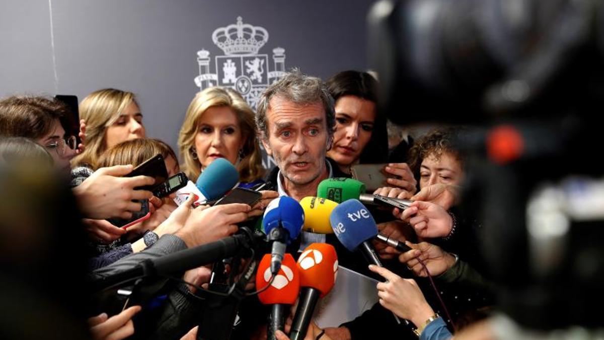 Fernando Simón en rueda de prensa en enero de 2020