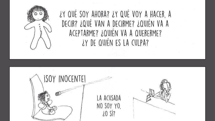Página 61 del cómic 'Buscando Justicia', de Ana.   Imagen cedida por la Asociación Mujeres de Guatemala.
