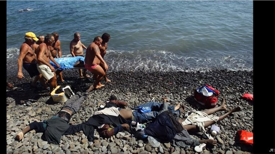 Fotograma del largometraje sobre migraciones hacia España