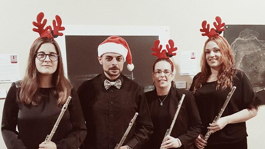 Cuarteto de flautas de la Academia de CajaCanarias.