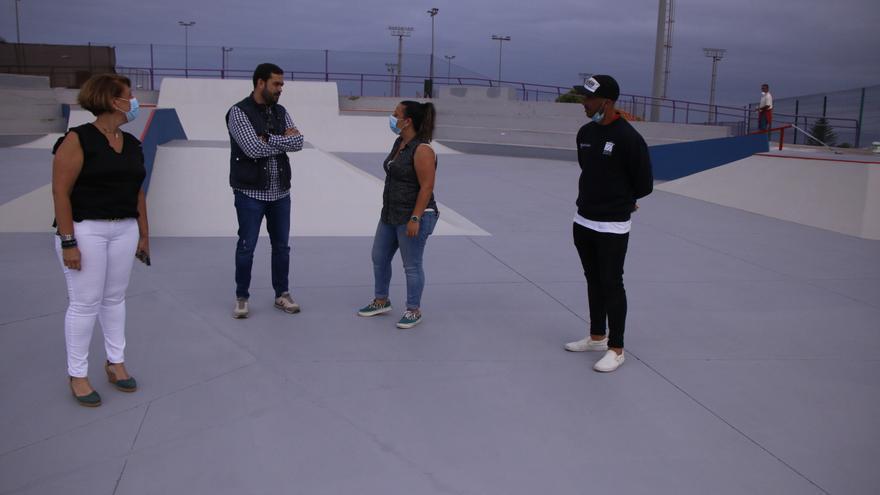 El skatepark de Punta del Hidalgo ya luce su nueva imagen.