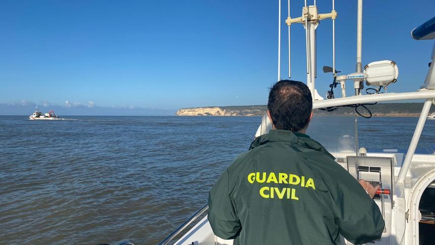 Dispositivo de rescate del pesquero Rúa Mar
