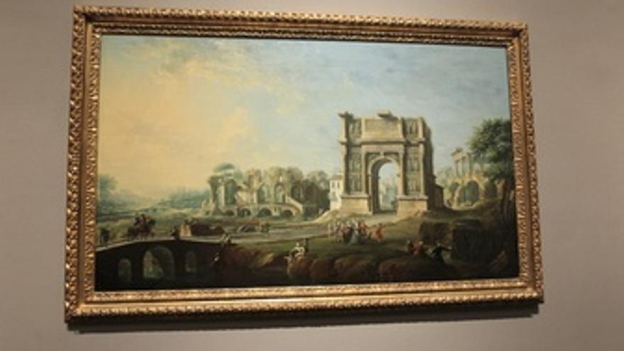 'Visita De La Reina María Amalia De Sajonia Al Arco De Trajano En Benevento'