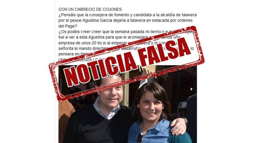 'Fake new' sobre la consejera de Fomento, Agustina García Élez