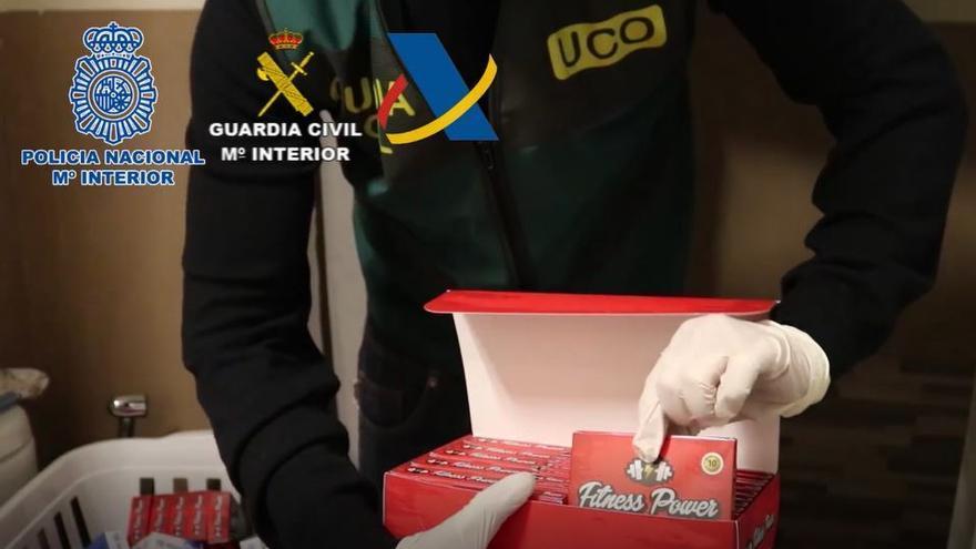 Operación contra el tráfico ilegal de medicamentos  en la que han sido detenidas 47 personas en varias provincias de España