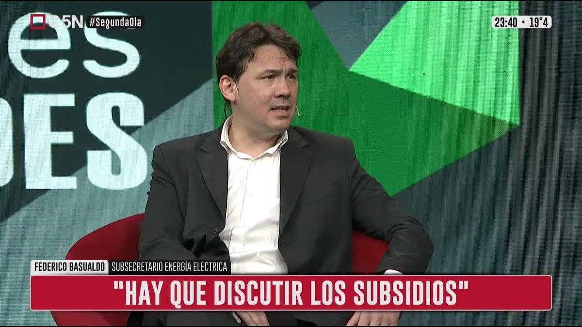 Federico Basualdo, subsecretario de Energía Eléctrica.