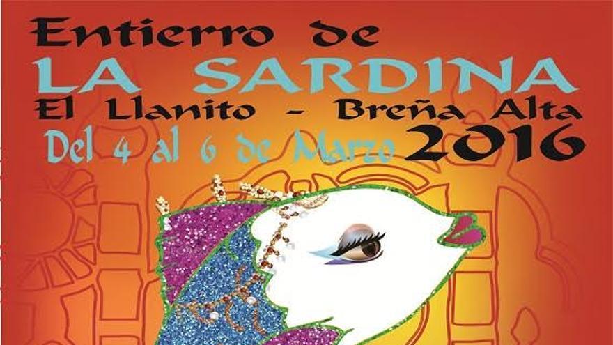 Cartel del 'Gran Entierro de la Sardina' de El Llanito (Breña Alta).