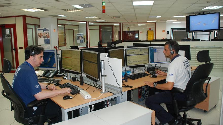 Sala del Centro Coordinador de Emergencias del 112