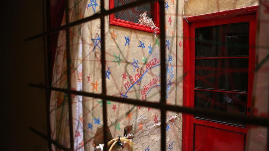 Patio interior en el Centro Social La Bicicleta (ALEJANDRO RAMOS)