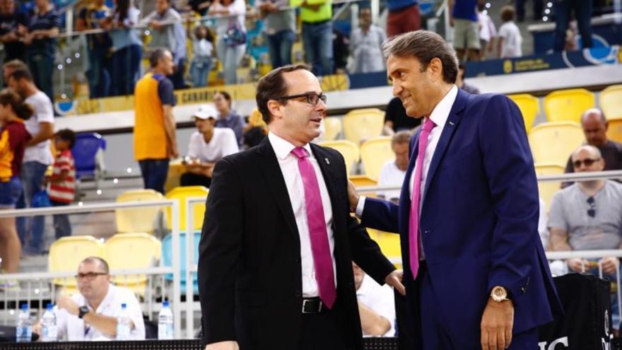 El entrenador del Herbalife Gran Canaria, Luis Casimiro